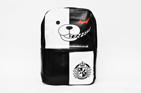 Monokuma (Dangan Ronpa) Black / White PU Leather Backpack Bag