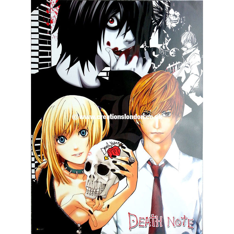 "A2 Laminated Poster 25""X16"" Death Note / Misa, Light & L"