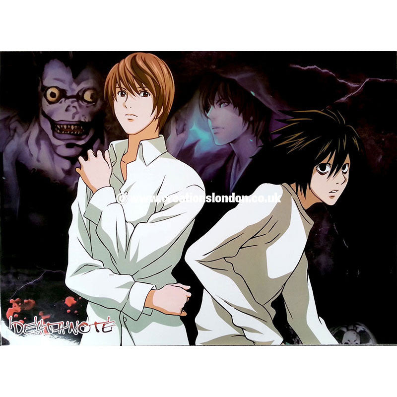"A2 Laminated Poster 25""X16"" Death Note / Light & L"