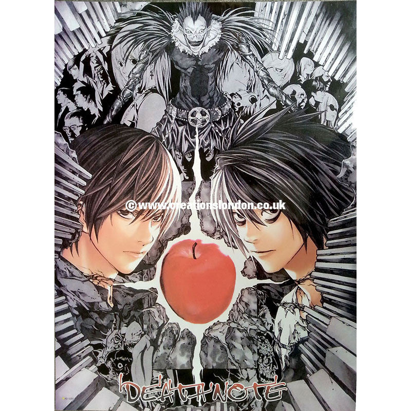 "A2 Laminated Poster 25""X16"" Death Note / Light, L, Ryuk"