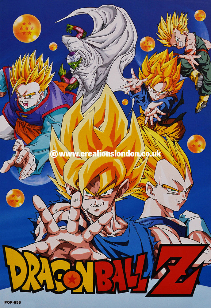 "A3 Size Posters 16.5""x11.5"" Dragon Ball / Goku, Gohan, Vegeta, Trunks"