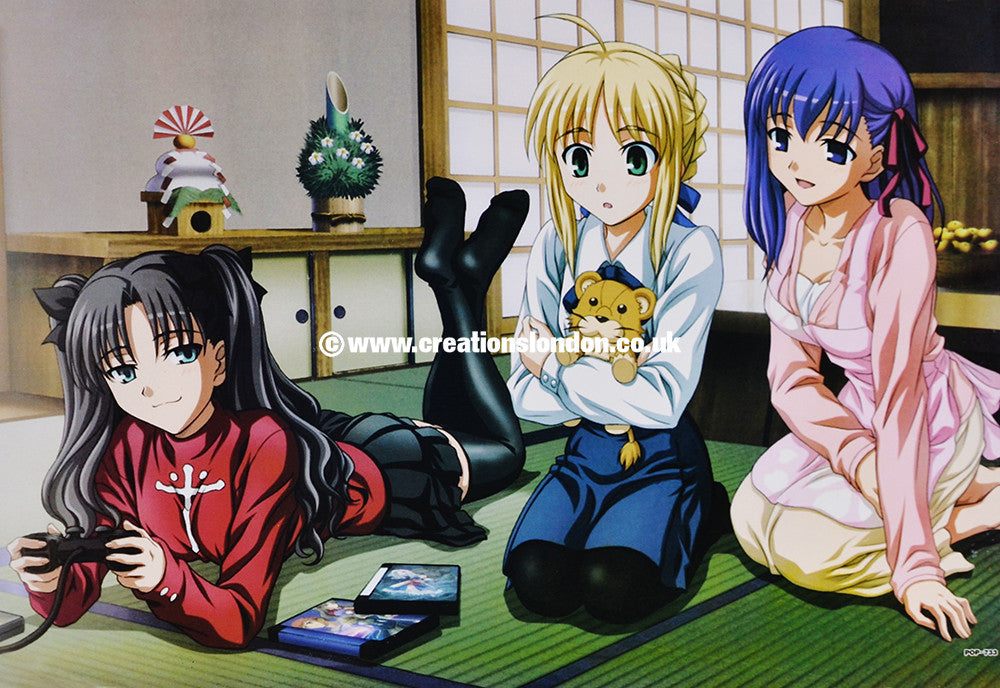 "A3 Size Posters 16.5""x11.5"" Fate Stay Night / Rin, Saber, Sakura"