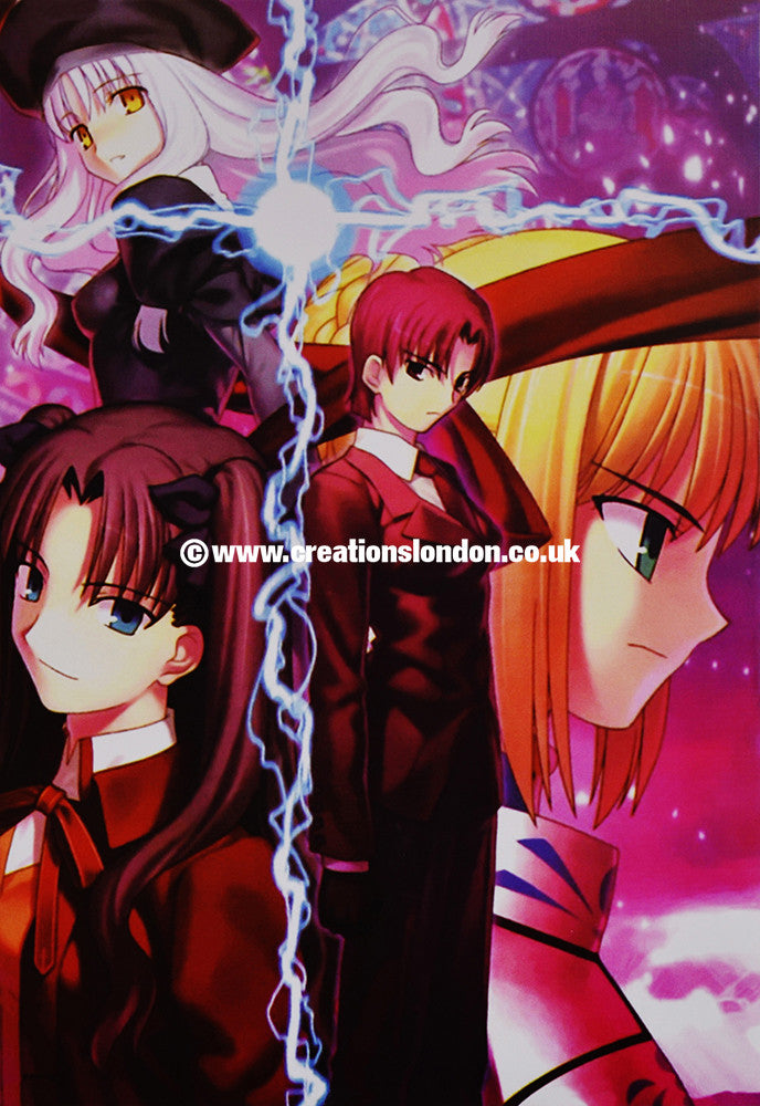 "A3 Size Posters 16.5""x11.5"" Fate Stay Night / Rin, Saber, Illyasviel"