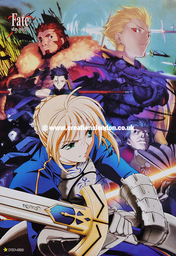 "A3 Size Posters 16.5""x11.5"" Fate Stay Night / Saber, Rider, Gilgamesh"