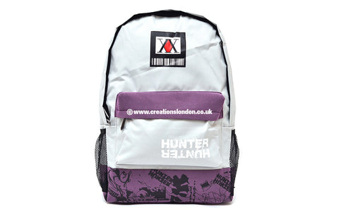 Hunter X Hunter/Hunter Licence Logo Light Grey / Purple Canvas Backpack Bag