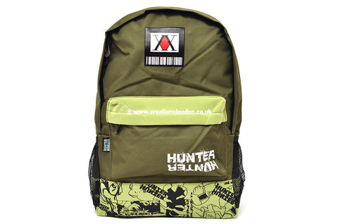 Hunter X Hunter/Hunter Licence Logo Dark / Light Green Canvas Backpack Bag