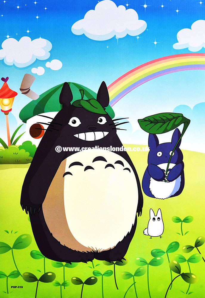 "A3 Size Posters 16.5""x11.5"" My Neighbor Totoro / Totoro, Blue Totoro"