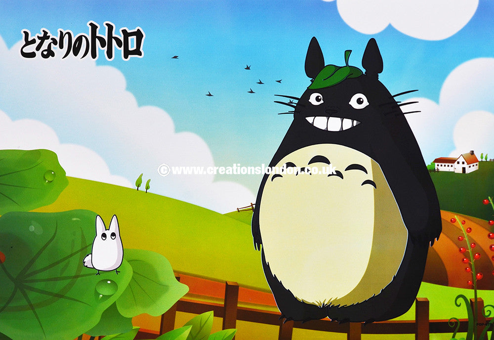 "A3 Size Posters 16.5""x11.5"" My Neighbor Totoro / Totoro, White Totoro"
