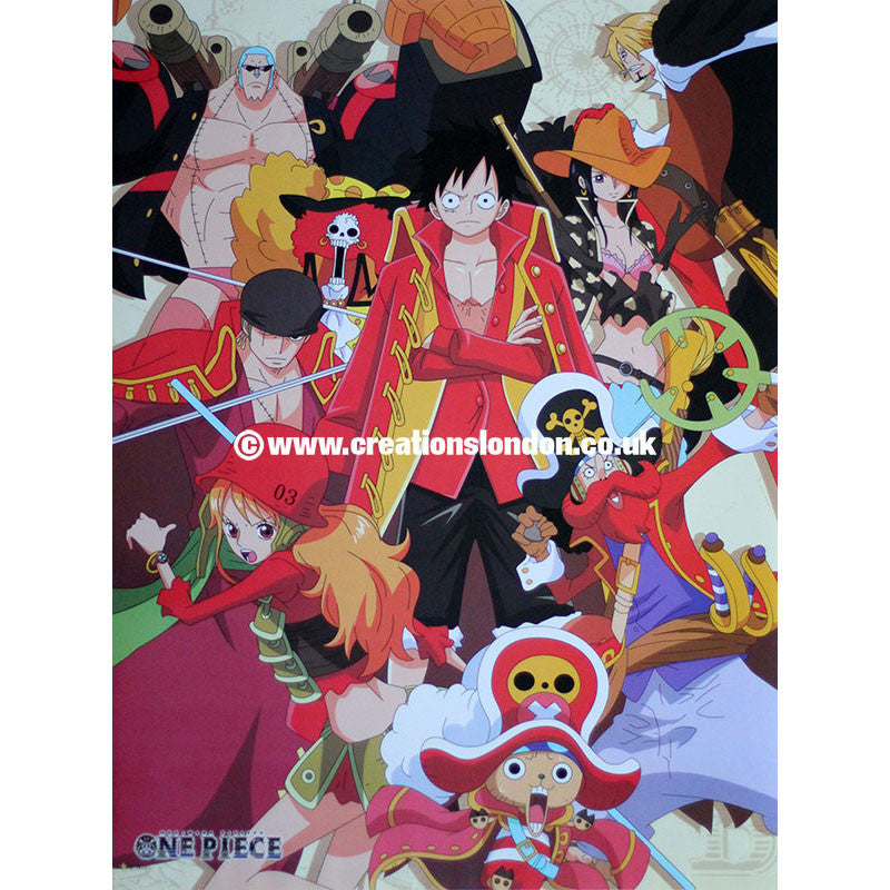 "A2 Laminated Poster 25""X16"" One Piece / Straw Hat Pirates"