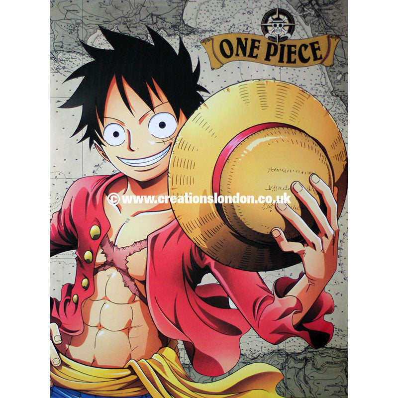 "A2 Laminated Poster 25""X16"" One Piece / Monkey.D.Luffy"