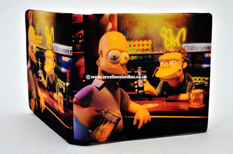 The Simpsons PU Leather Wallet / Homer & Moe