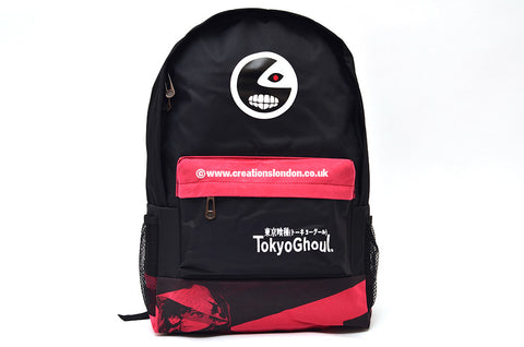 Tokyo Ghoul Kaneki Ken Mask Black / Pink Canvas Backpack Bag