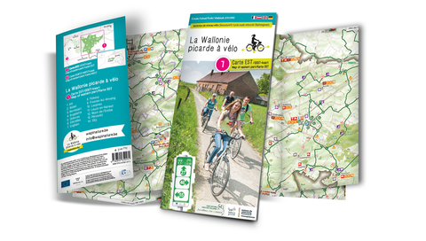 Picardy Wallonia by bike –Map of the EAST