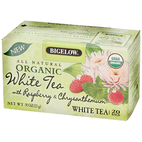 Bigelow Organic White Tea with Raspberry & Chrysanthemum
