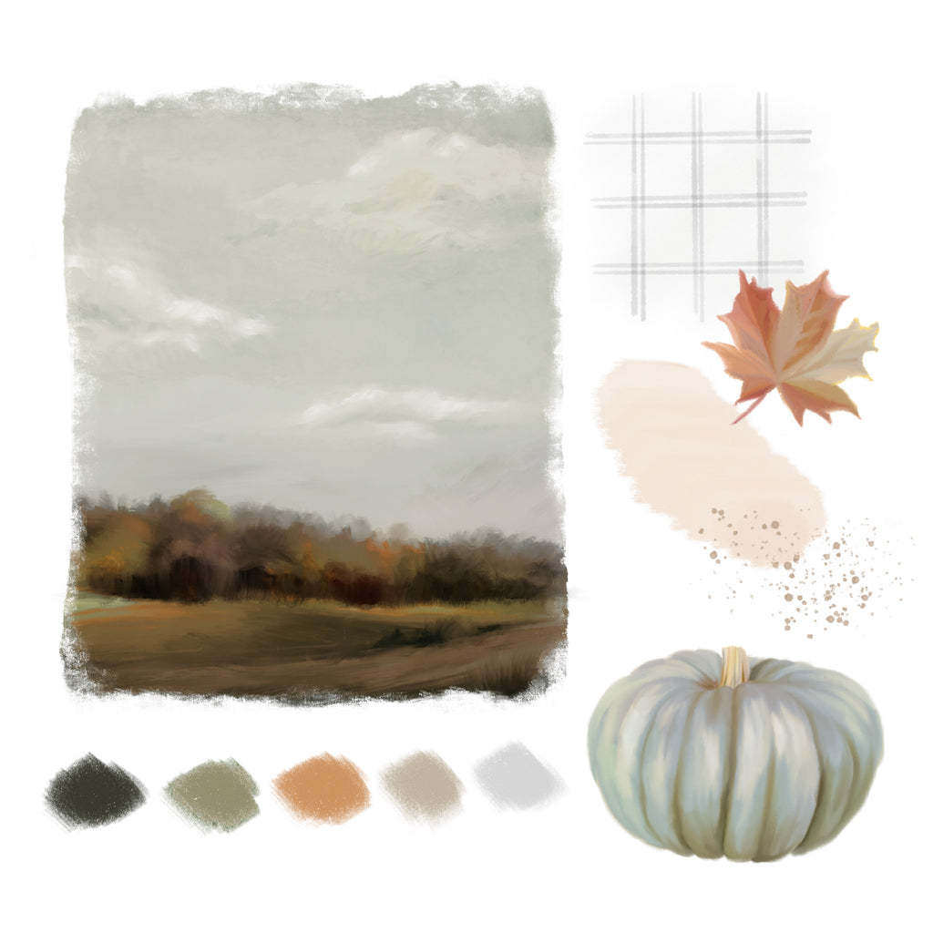 Mood board for Autumn Collection 2021