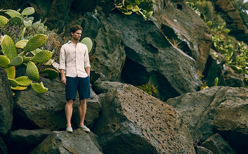 panarea linen cotton shorts