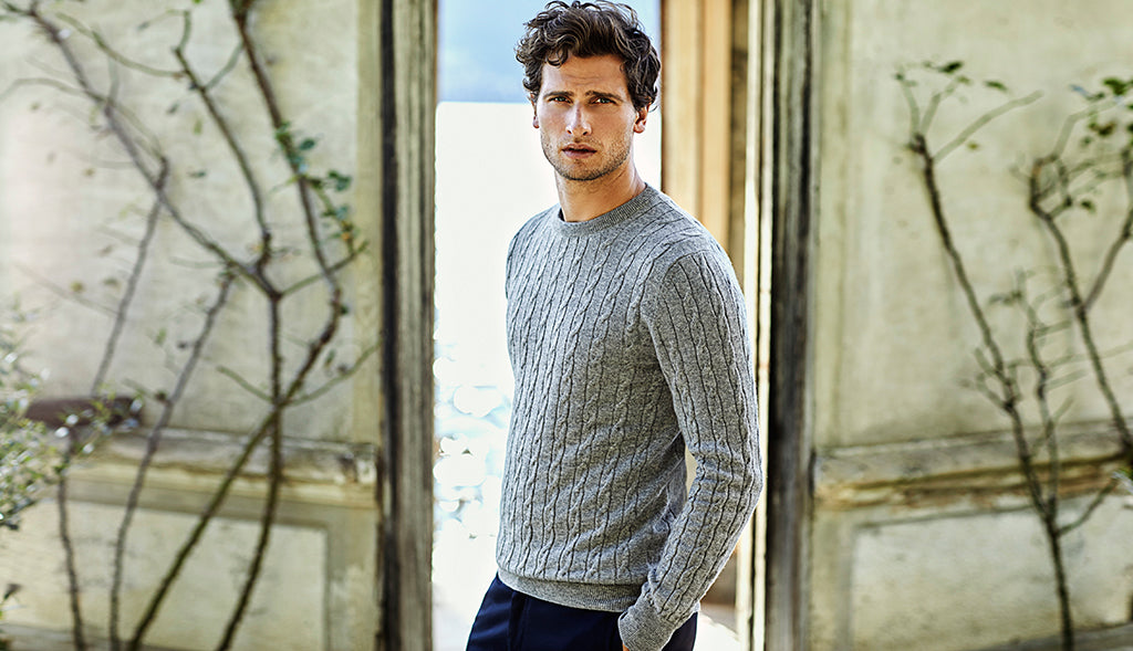 9db0d5a3f Pure Cashmere Cable Knit Sweater