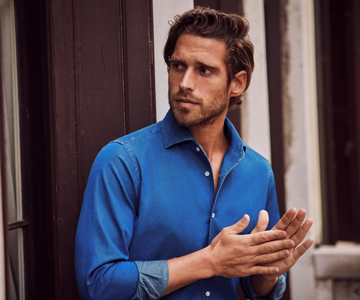 Luca Faloni Denim Shirts Made in Italy