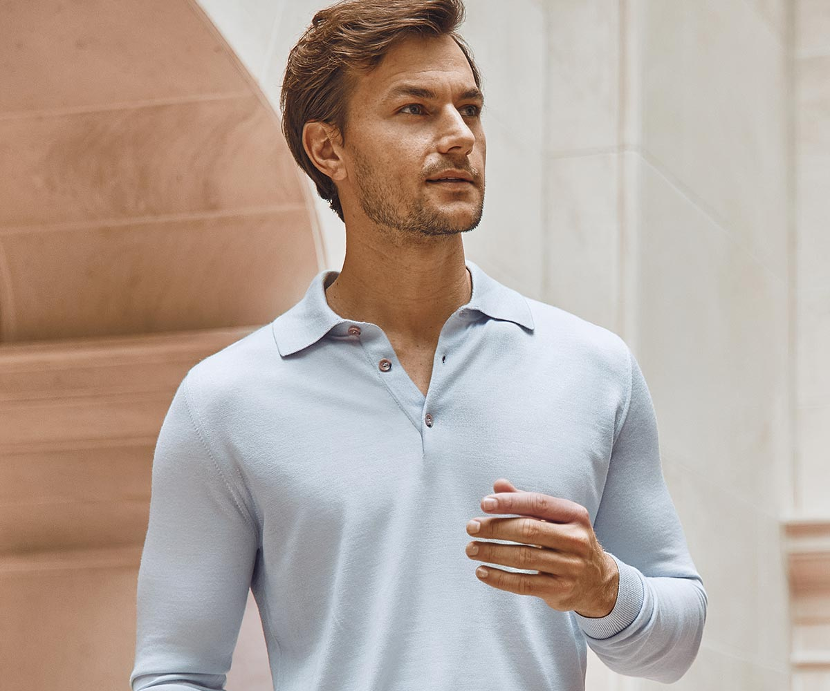 Luca Faloni Fine Silk-Cashmere Polo Made in Italy