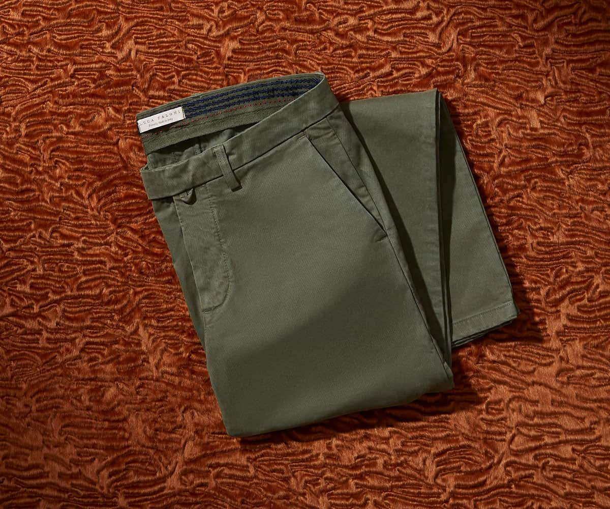 Luca Faloni Cortina Winter Chinos Trousers Made in Italy