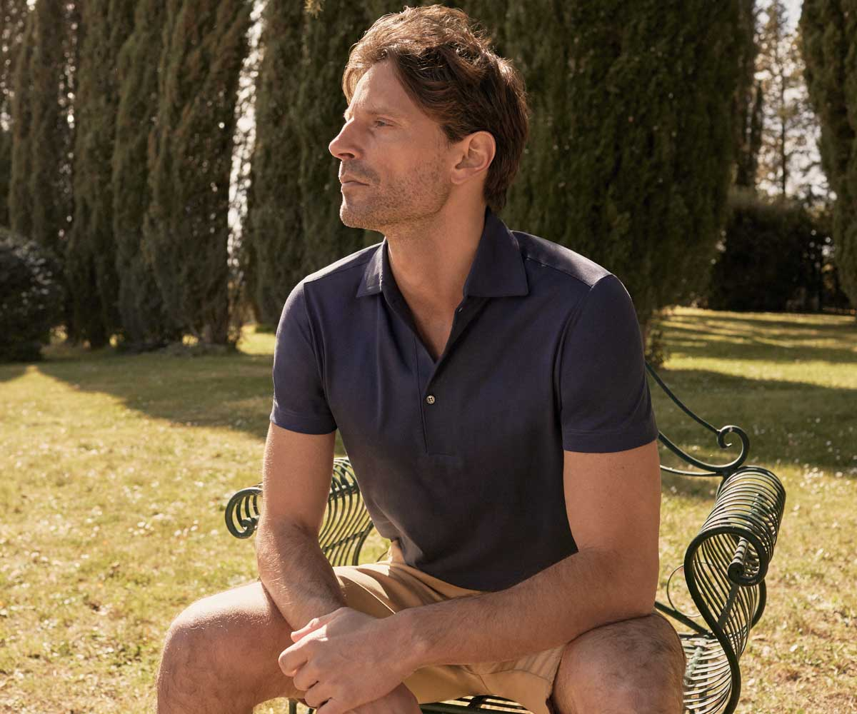 Luca Faloni Silk-Cotton Polo Made in Italy