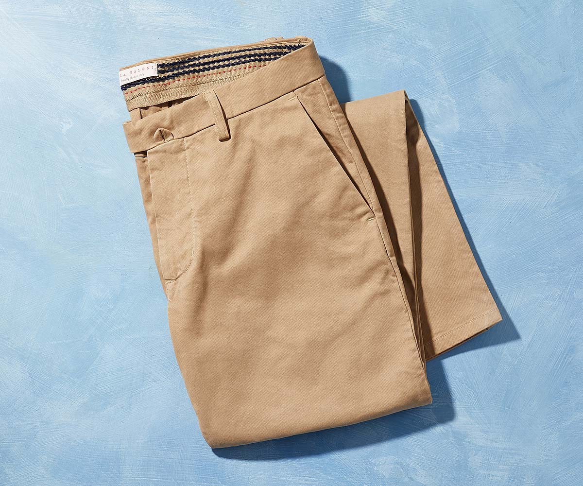 Luca Faloni Cortina Chinos Trousers Made in Italy
