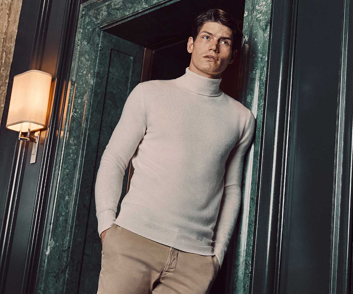 Luca Faloni Pure Cashmere Roll Neck Made in Italy