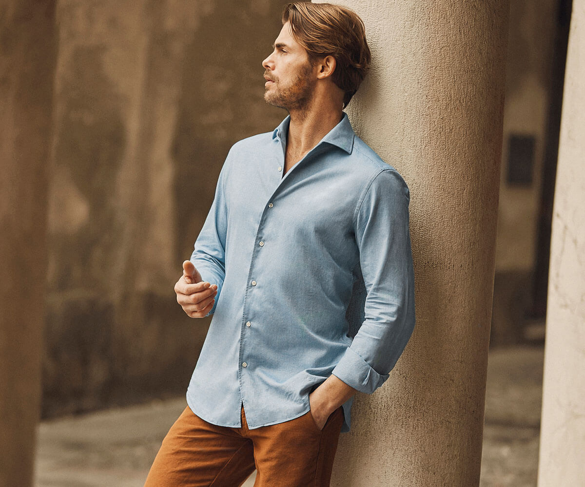 Luca Faloni Brushed Cotton Shirt Made in Italy