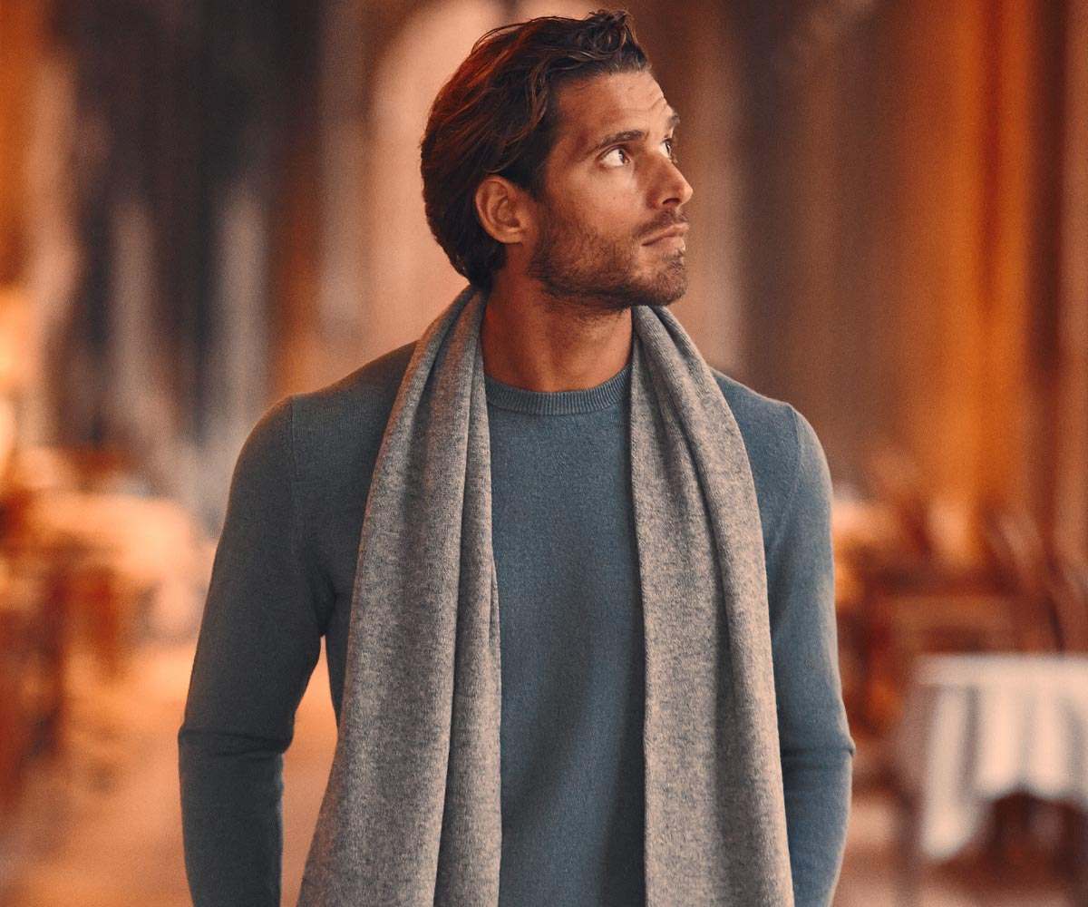 Luca Faloni Pure Cashmere Crew Neck Made in Italy