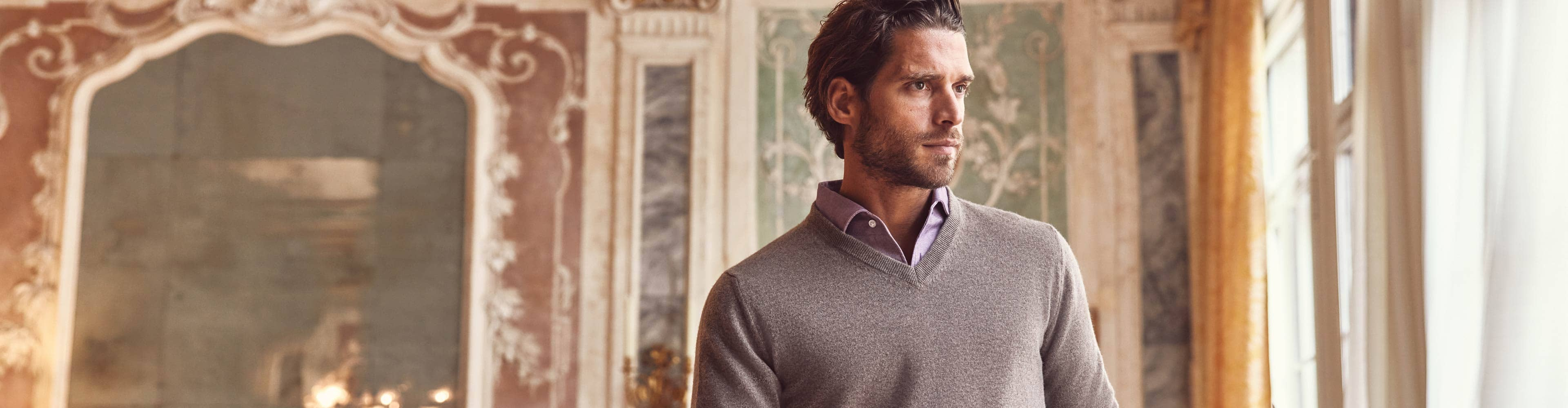 Luca Faloni Pure Cashmere V Neck Made in Italy