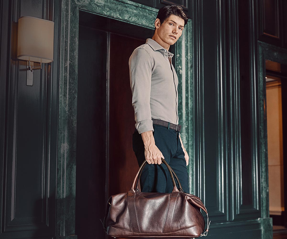 Luca Faloni Leather Travel Bags Made in Italy