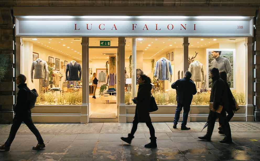Luca Faloni Marylebone London Store Made in Italy