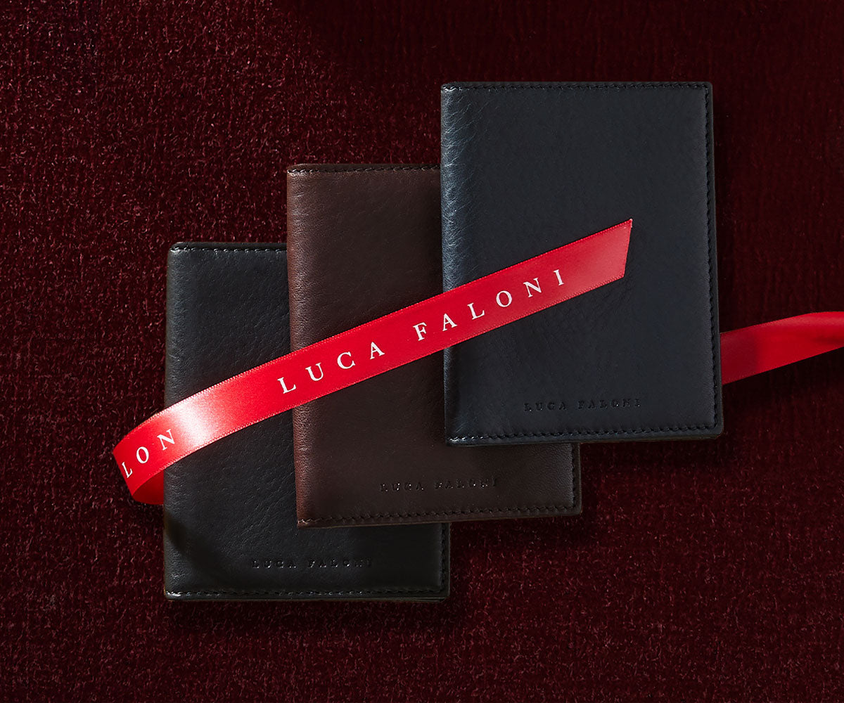 Luca Faloni Leather Wallets Made in Italy