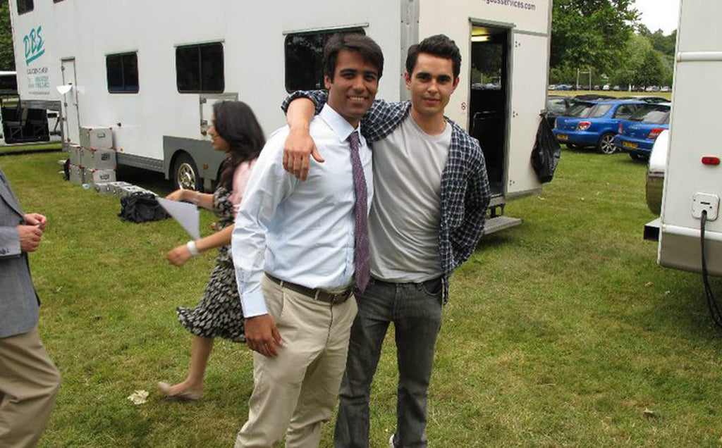 "Private picture of Divya Narendra and Max Minghella who plays Divya in the movie ""The Social Network"""