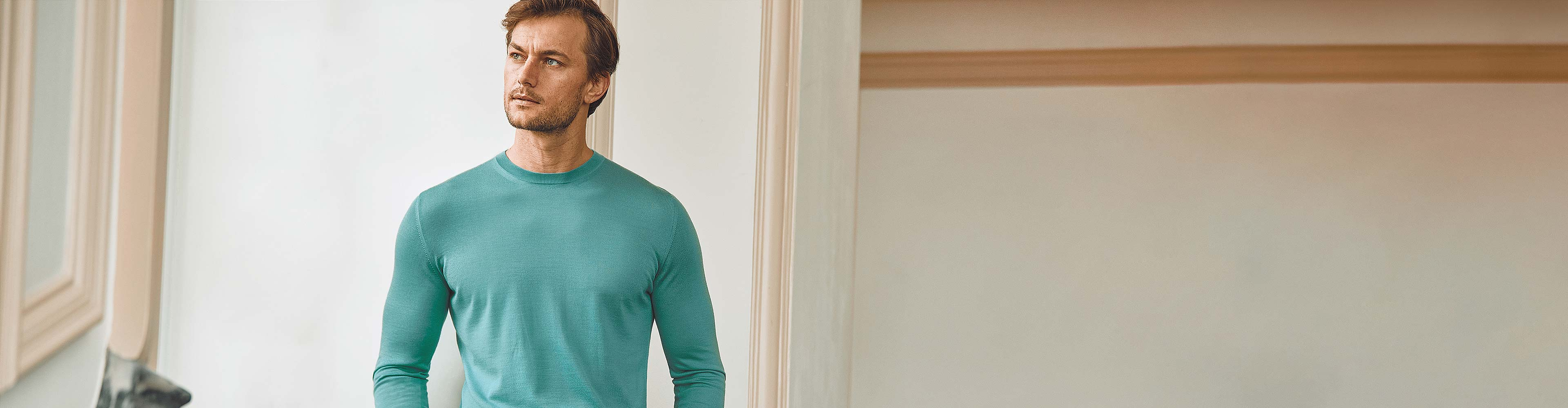Luca Faloni Fine Silk-Cashmere Crew Neck Made in Italy