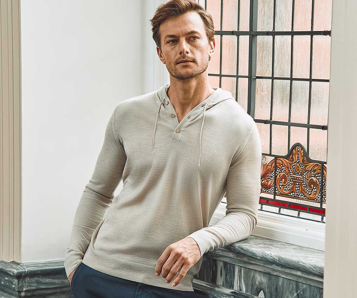 Luca Faloni Fine Silk-Cashmere Hoodies Made in Italy