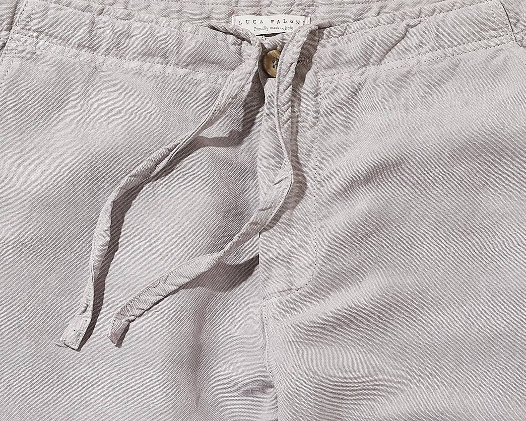 Made in Italy Linen-Cotton Shorts