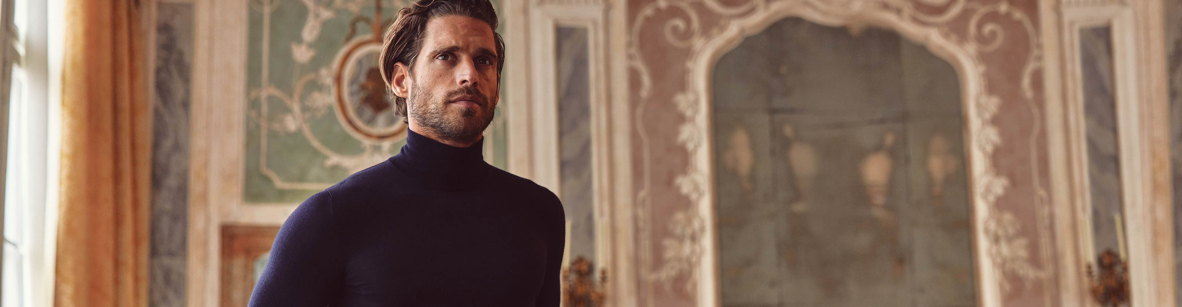Luca Faloni Fine Silk-Cashmere Mock Neck Made in Italy