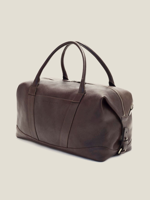 Luca Faloni Chocolate Brown Weekender Made in Italy