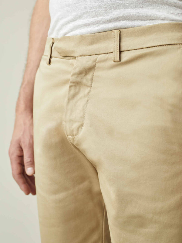 Camel Beige Cotton Shorts