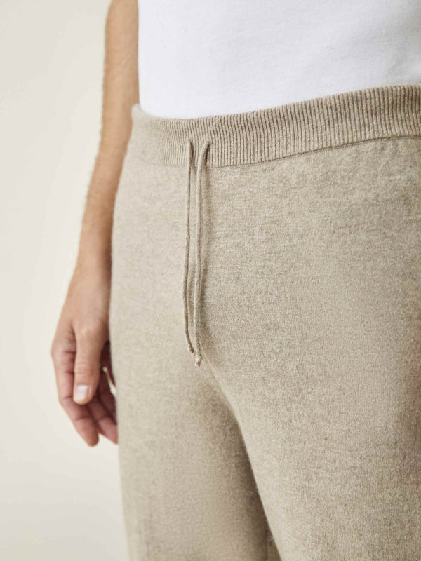 Luca Faloni Camel Beige Pure Cashmere Joggers Made in Italy