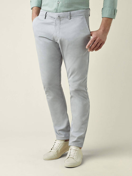 Light Grey Lightweight Cotton Chinos