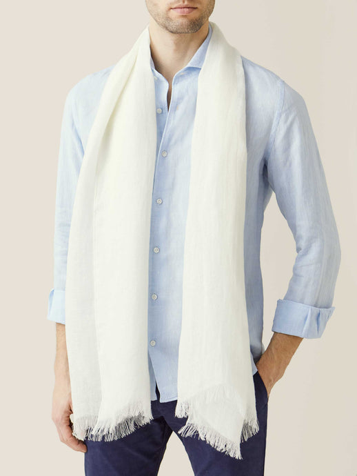Ivory Linen Scarf
