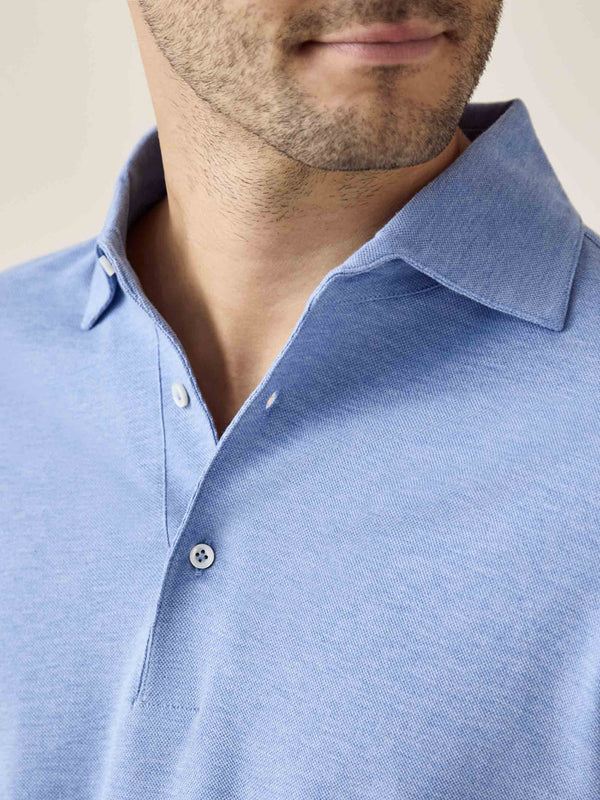 Luca Faloni Light Blue Brera Polo Shirt Made in Italy