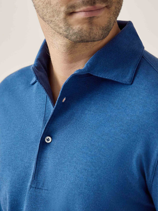 Luca Faloni Royal Blue Brera Polo Shirt Made in Italy