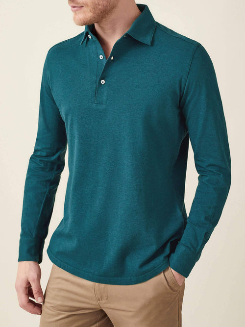 Luca Faloni Forest Green Brera Polo Shirt Made in Italy