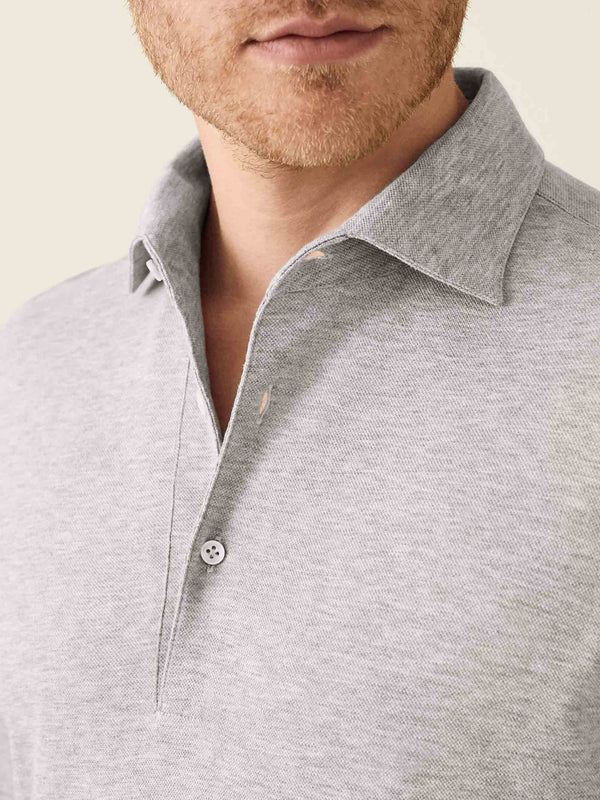 Luca Faloni Light Grey Brera Polo Shirt Made in Italy
