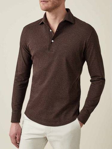 Luca Faloni Chocolate Brown Brera Polo Shirt Made in Italy
