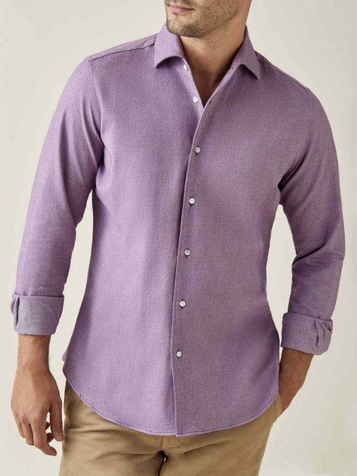 Purple Brushed Cotton Shirt