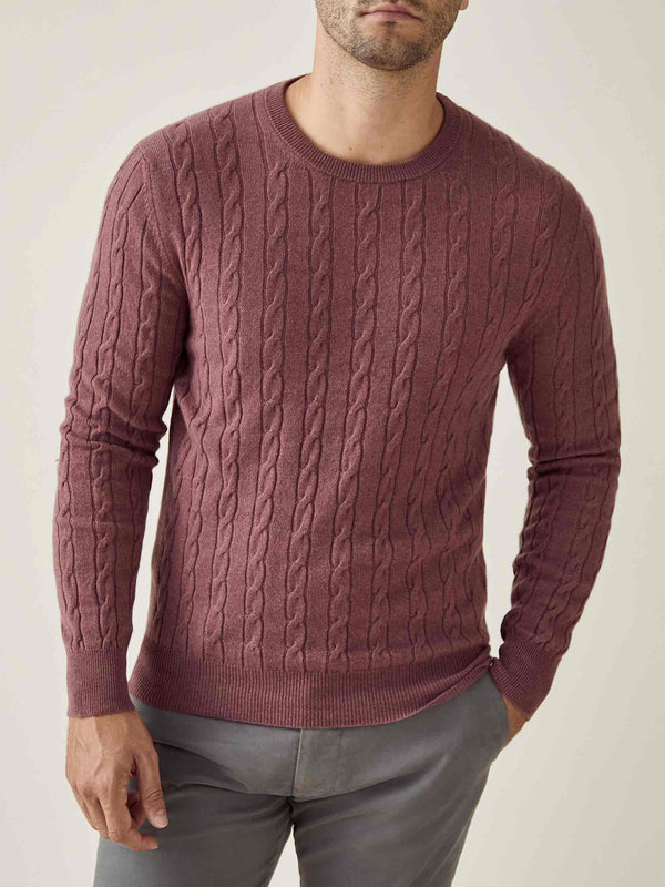 Luca Faloni Desert Rose Pure Cashmere Cable Knit Made in Italy